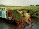 weed harvester boat